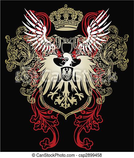 águia, heraldic, emblema - csp2899458