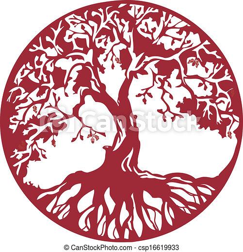 árvore, carvalho - csp16619933