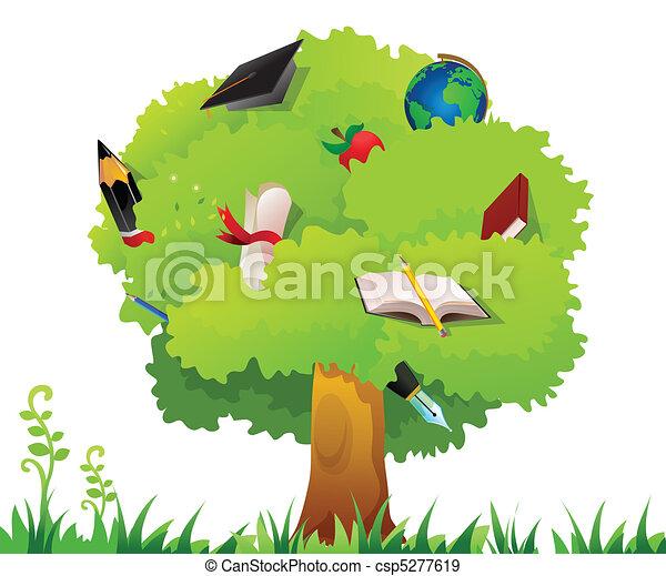 árvore, educação - csp5277619