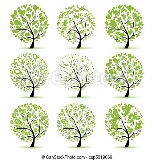 árvore, seu, arte, cobrança, desenho - csp5319069