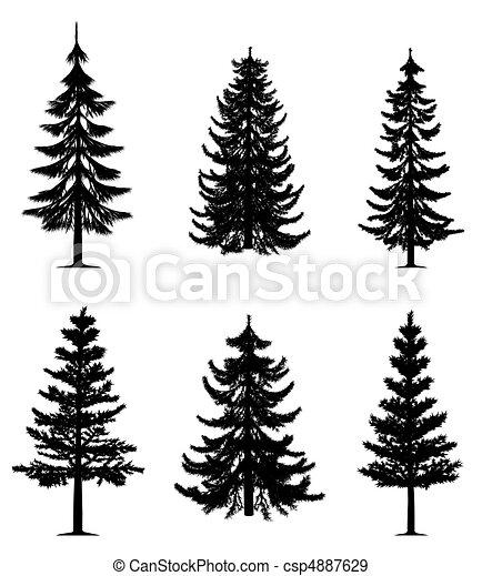 árvores, cobrança, pinho - csp4887629