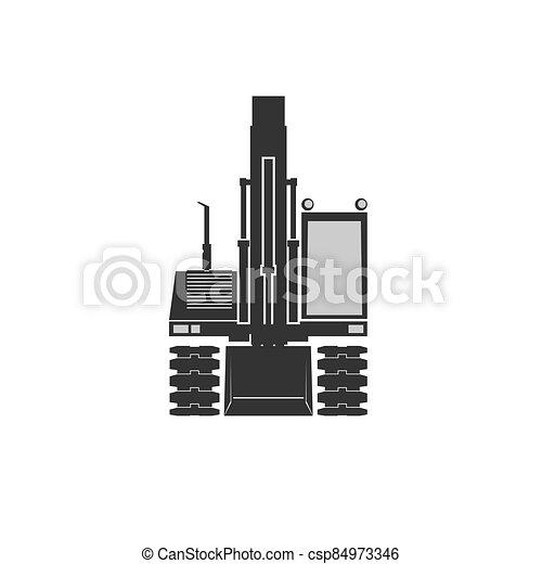 ícone, escavador - csp84973346