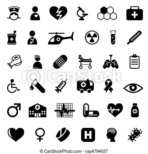 ícones médicos - csp4794027