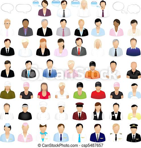 ícones, pessoas - csp5487657