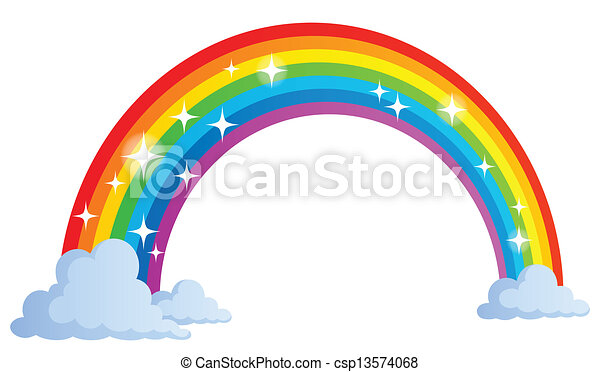 1, arco íris, imagem, tema - csp13574068