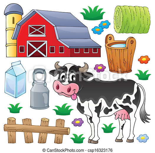1, tema, vaca, cobrança - csp16323176