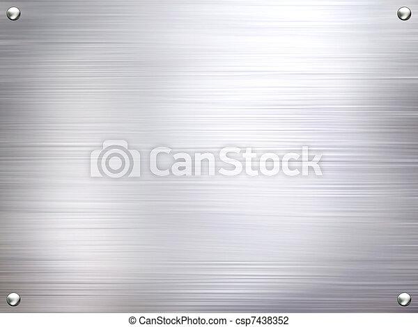 aço, prato, metal, experiência. - csp7438352