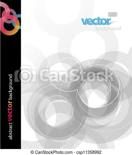 abstratos, circles., fundo - csp11358992