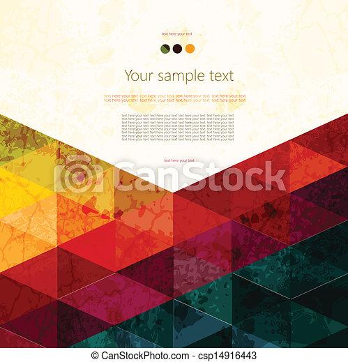 abstratos, coloridos, geomã©´ricas, fundo - csp14916443