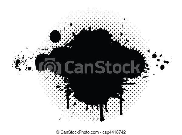 abstratos, grunge, fundo - csp4418742