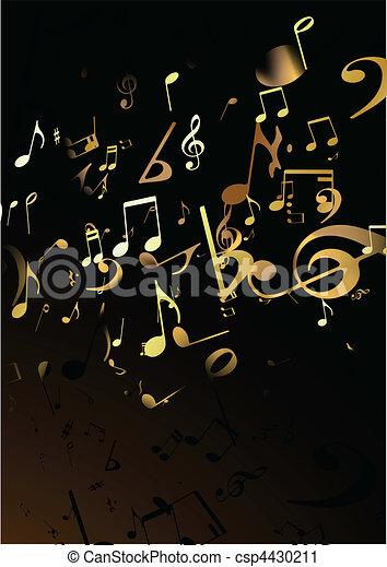 abstratos, música, fundo - csp4430211