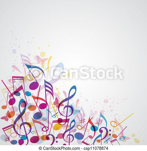 abstratos, música, fundo - csp11078874