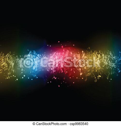 abstratos, notas música - csp9983540