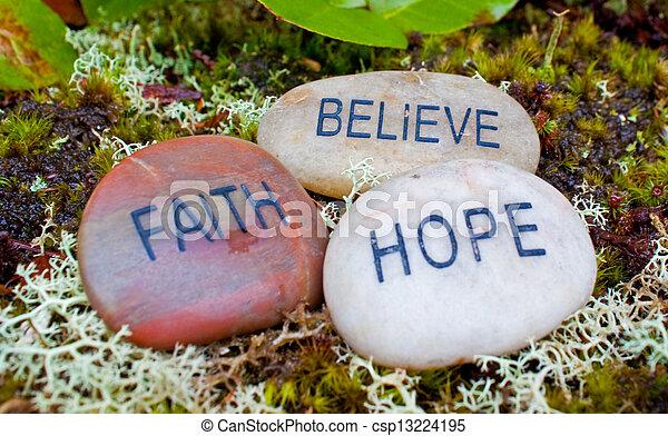 acreditar, stones., fé, esperança - csp13224195