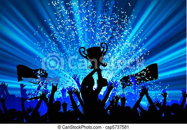 alegrando, multidão., eps, 8 - csp5737581