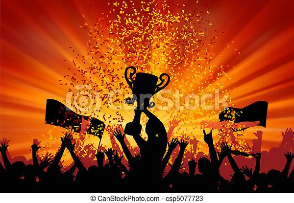 alegrando, multidão., eps, 8 - csp5077723
