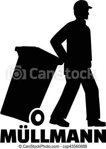 alemão, trabalho, homem, lixo, título - csp43560688