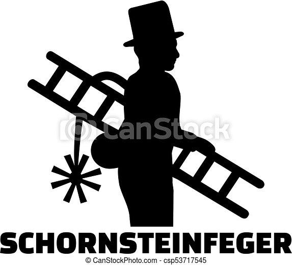 alemão, varredor, trabalho, chaminé, título - csp53717545