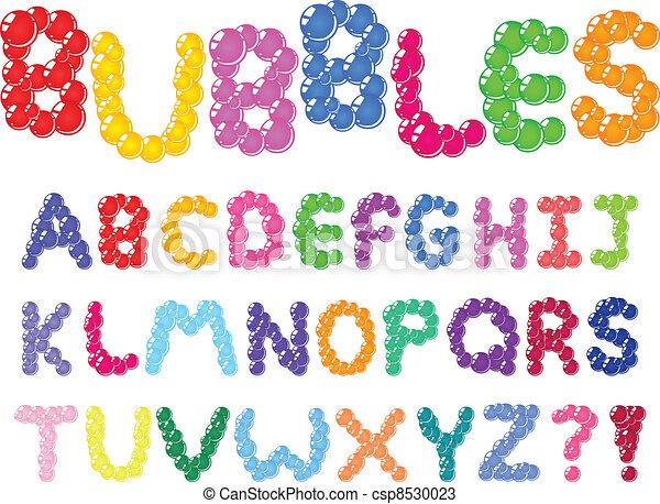 alfabeto, bolhas - csp8530023