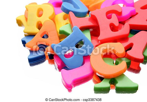 alfabeto, letras - csp3387438