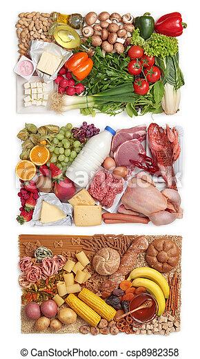 alimento agrupa, combinar - csp8982358