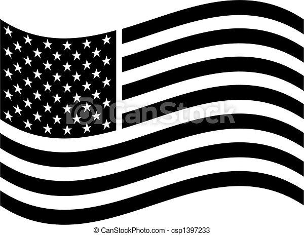 americano, arte, bandeira, clip - csp1397233