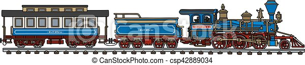 americano, trem, clássicas - csp42889034