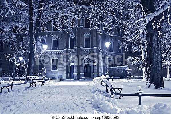 antigas, parque, inverno - csp16928592