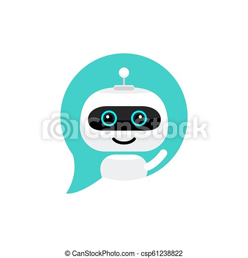 apartamento, estilo, serviço, bot, chatbot, personagem, robô, sinal, conversa, icon., concept., apoio - csp61238822