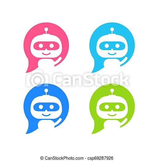 apartamento, estilo, serviço, bot, chatbot, personagem, robô, sinal, conversa, icon., concept., apoio - csp69287926