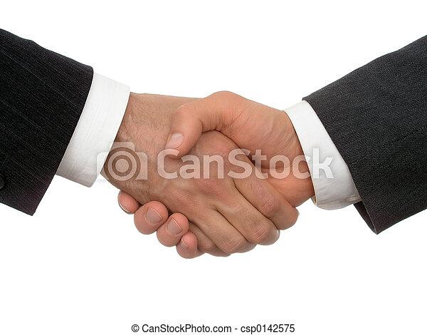 aperto mão, negócio - csp0142575