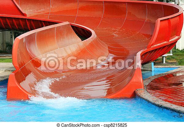 aquapark, escorregar - csp8215825