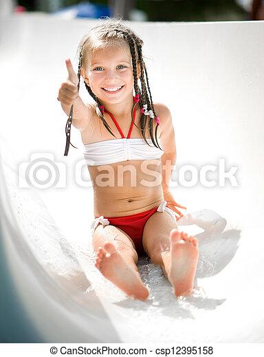 aquapark, menininha - csp12395158
