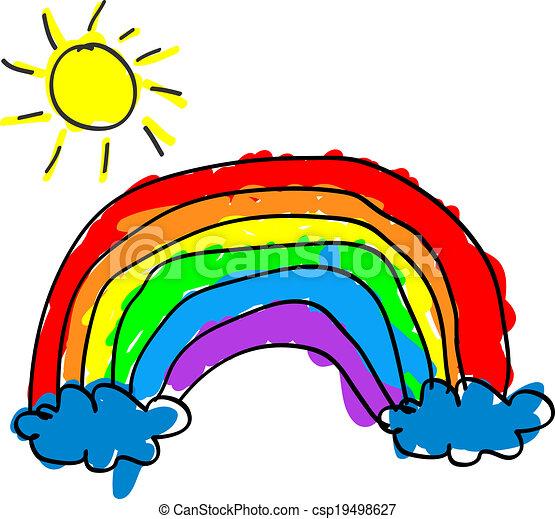 arco íris, criança - csp19498627