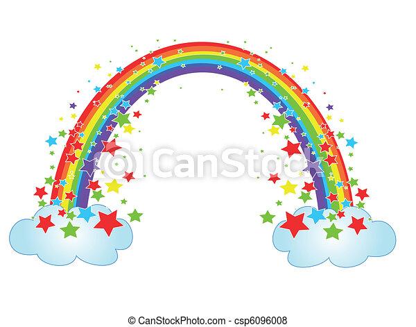 arco íris, decoração - csp6096008