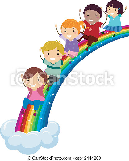 arco íris, diversidade - csp12444200