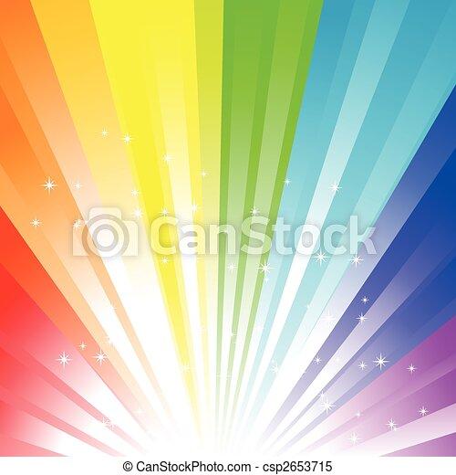 arco íris, fundo - csp2653715