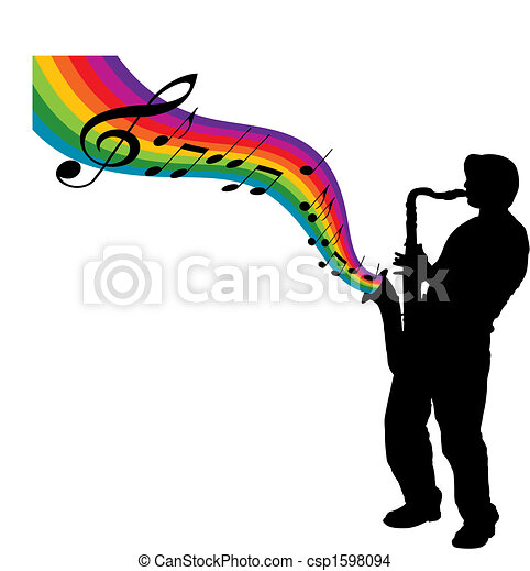 arco íris, sax - csp1598094