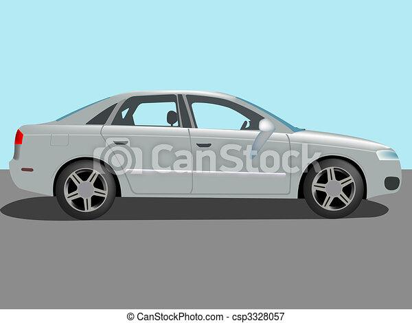 automóvel, vetorial - csp3328057