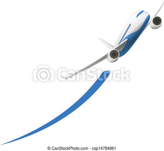 avião, decolagem - csp14784961