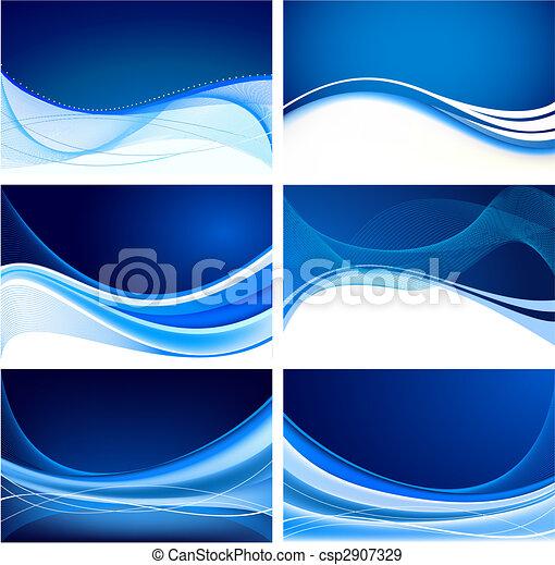 azul, abstratos, jogo, fundo, vetorial - csp2907329