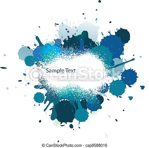 azul, cor, respingo, tom - csp9588016