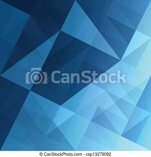 azul, eps10, abstratos, experiência., vetorial, triângulos - csp13279082
