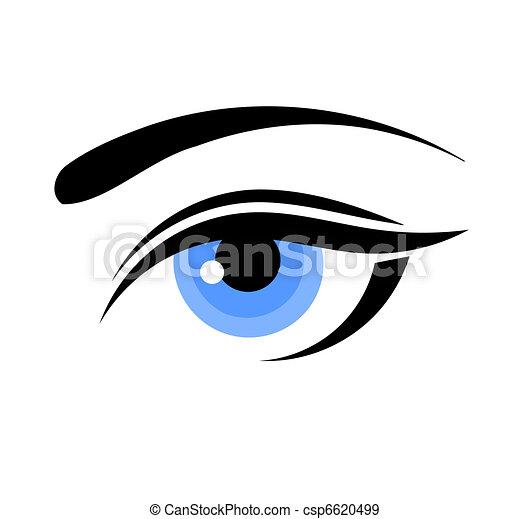 azul, olho mulher - csp6620499