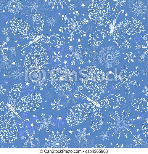 azul, padrão, repetindo, natal - csp4365963