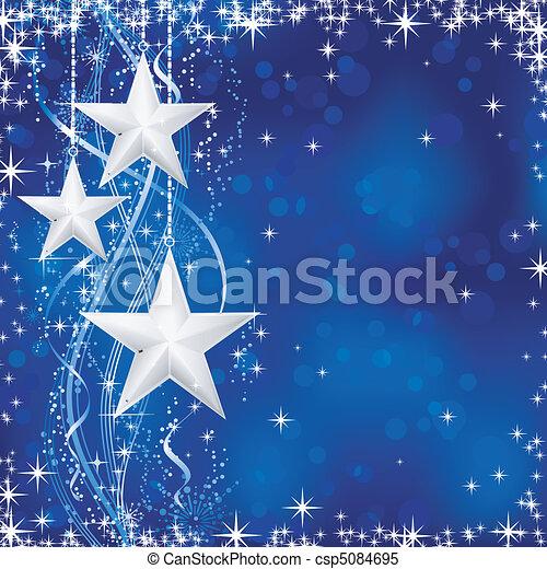 azul, pontos, estrelas, occasions., inverno, transparencies., luz, festivo, linhas, neve, /, natal, ondulado, flocos, não, fundo, seu - csp5084695