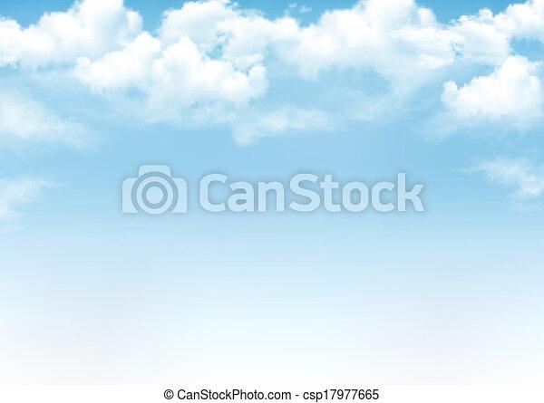 azul, vetorial, céu, fundo, clouds. - csp17977665