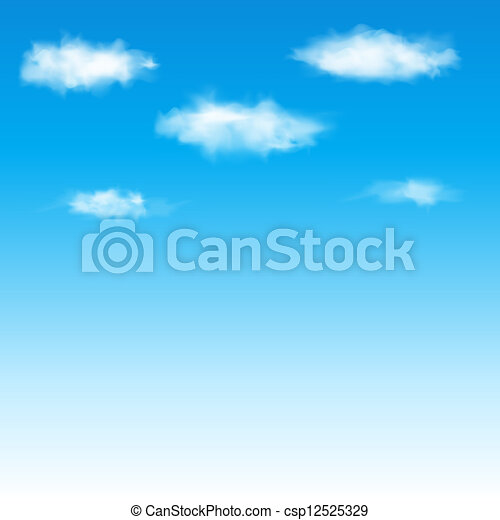 azul, vetorial, céu, illustration., clouds. - csp12525329