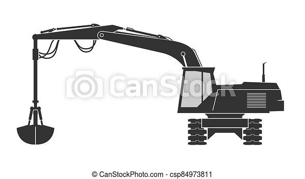 balde, escavador, agarramento - csp84973811