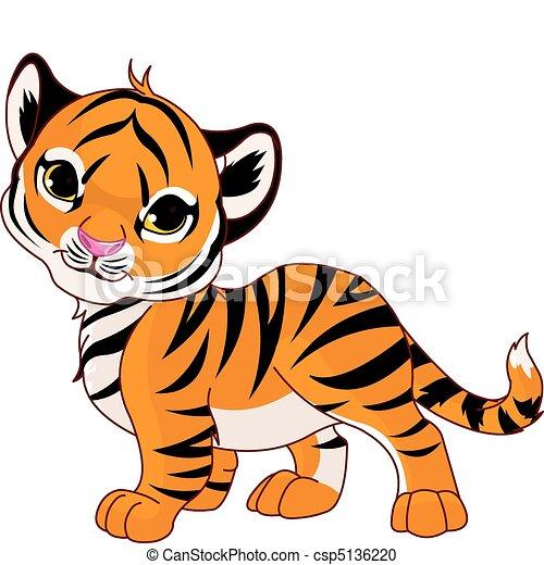 bebê, tiger, andar - csp5136220